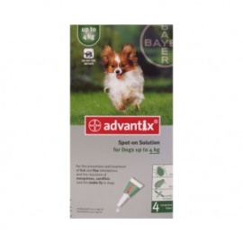ADVANTIX HASTA 4 Kg 4 PIPETAS
