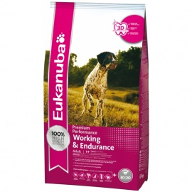 EUKANUBA ADULTO WORKING & ENDURANCE 15 KG