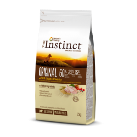 TRUE INSTINCT ORIGINAL POLLO CON ARROZ INTEGRAL MEDIUM/MAXI – JUNIOR