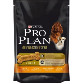 PRO PLAN BISCUIT ADULTO LIGHT POLLO Y ARROZ 400GR